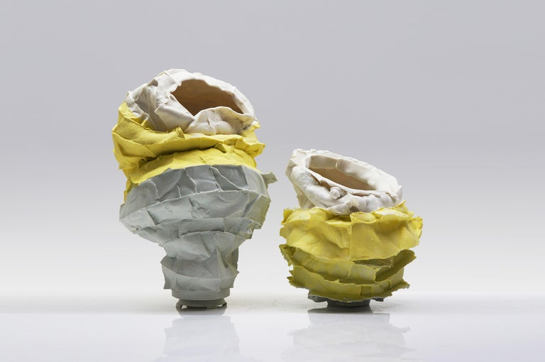 Porcelain Vase Handsculpted by Monika Patuszyńska For Sale 1