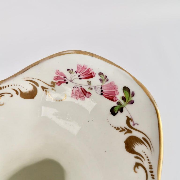 Porcelain Vase Samuel Alcock, Cobalt Blue, Swan Handles, Rococo Revival For Sale 5