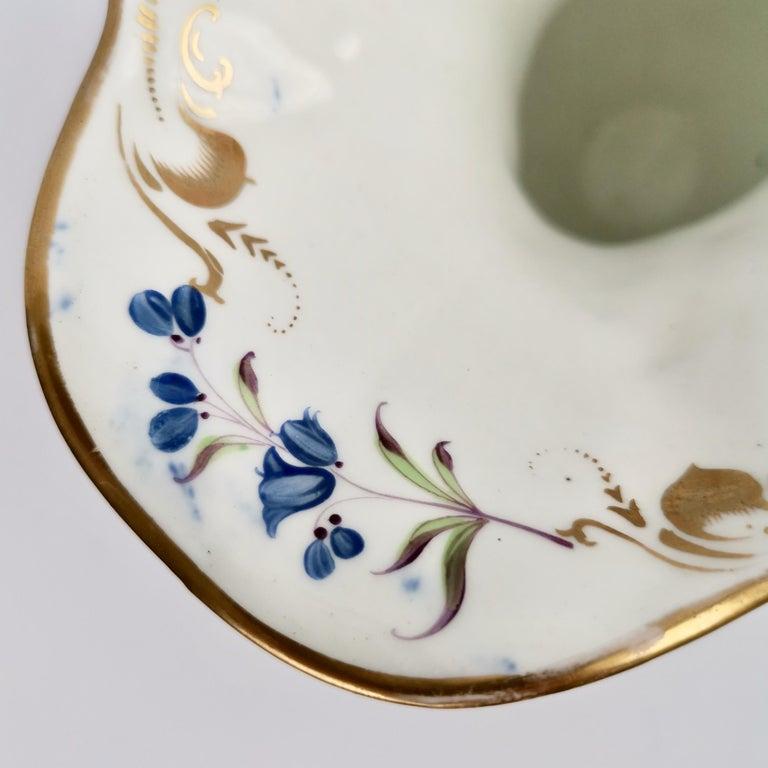 Porcelain Vase Samuel Alcock, Cobalt Blue, Swan Handles, Rococo Revival For Sale 7