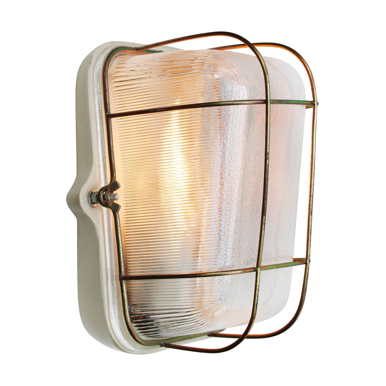Porcelain Vintage Industrial Holophane Glass Wall Lamp Scones