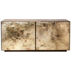 Porchester Sideboard, Smoked Eucalyptus Handcrafted Cabinet with Mica Inlay