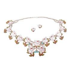 Porfilio Sheyka Zuni Squash Blossom Necklace Earrings
