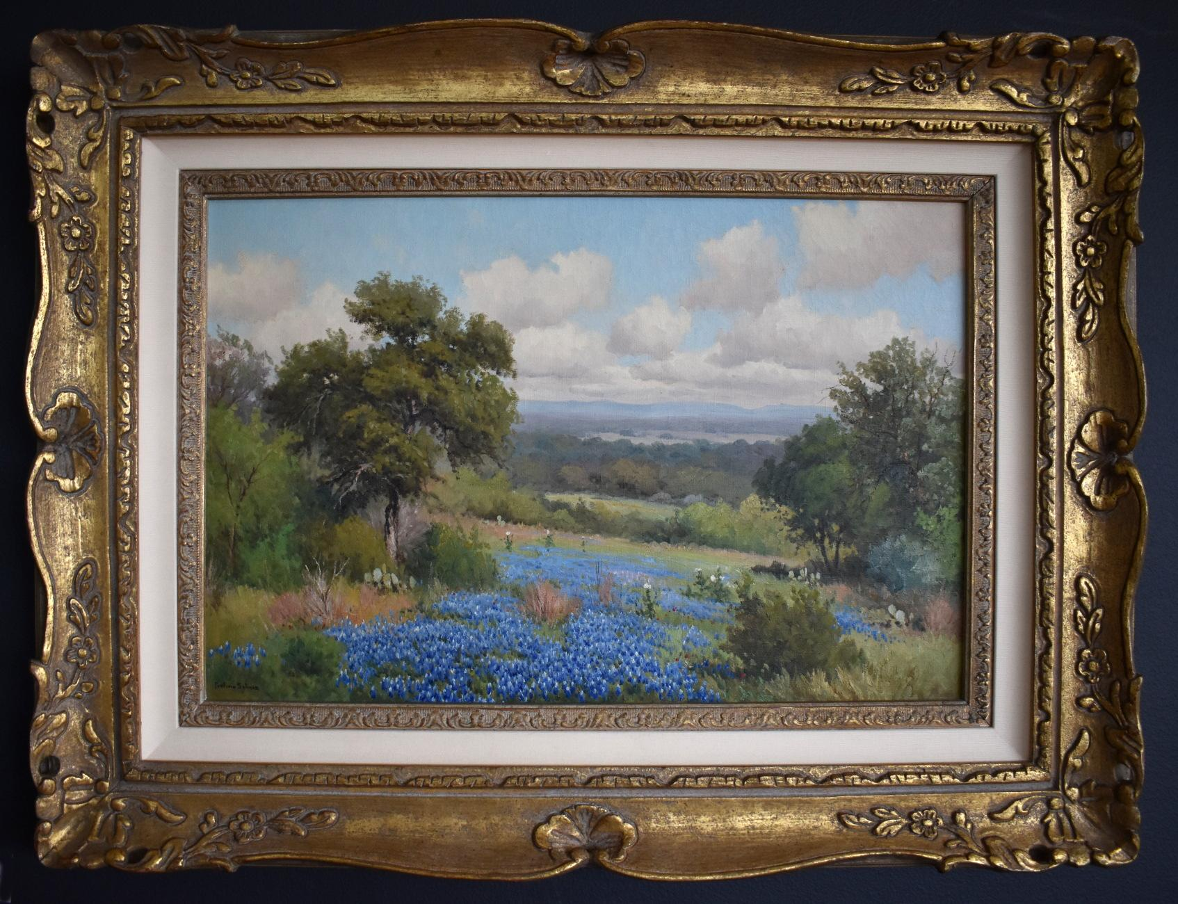 """"""" HILL COUNTRY BLUE """"  TEXAS HILL COUNTRY LANDSCAPE PAINTING"""