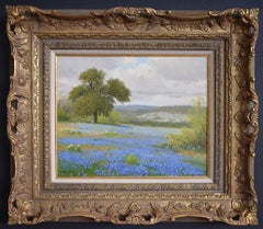 """"""" TEXAS HILL COUNTRY BLUEBONNETS AND PAINT BRUSH """"  SPRING COLORS"""