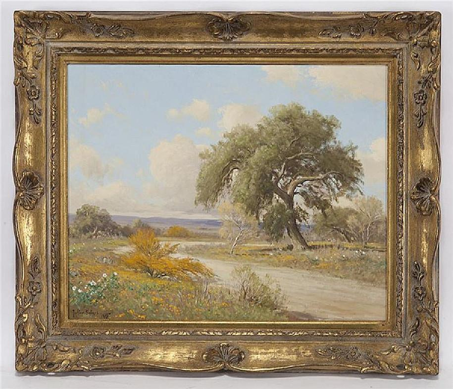 """"""" The Huisache Trail """"  Texas Hill Country Scene"""