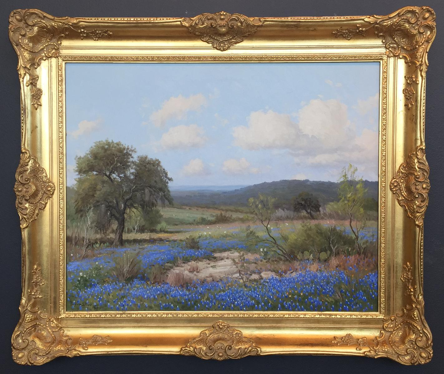 """""""Bluebonnets In The Hill Country""""  Texas Hill Country Scene"""