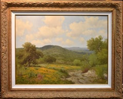 """Coreopsis & Cactus""  Texas Hill Country Large Landscape Painting"