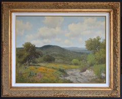 """""""Coreopsis & Cactus""""  Texas Hill Country Large Landscape Painting"""
