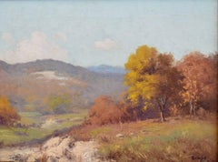 """Early Fall Texas Hill Country""  Fall colors circa 1930s"