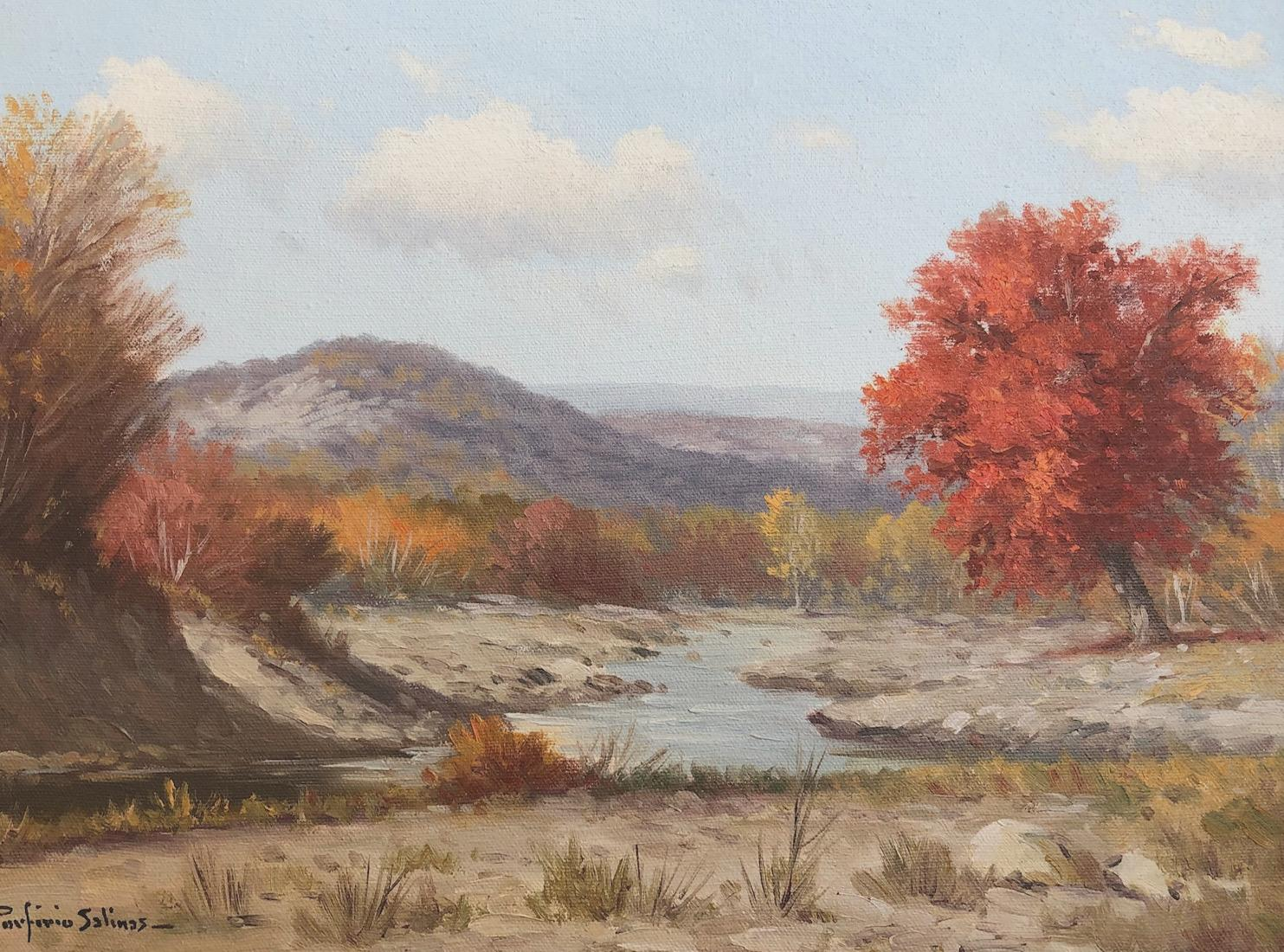 """""""Fall in Texas""""  Texas Hill Country Landscape River Scene"""
