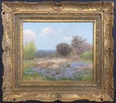 """""""TEXAS VERBENA""""  LAVENDER WILDFLOWERS POPPIES TEXAS HILL COUNTRY"""