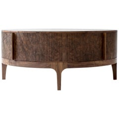 Poritz Studio Tambour Coffee Table, Walnut
