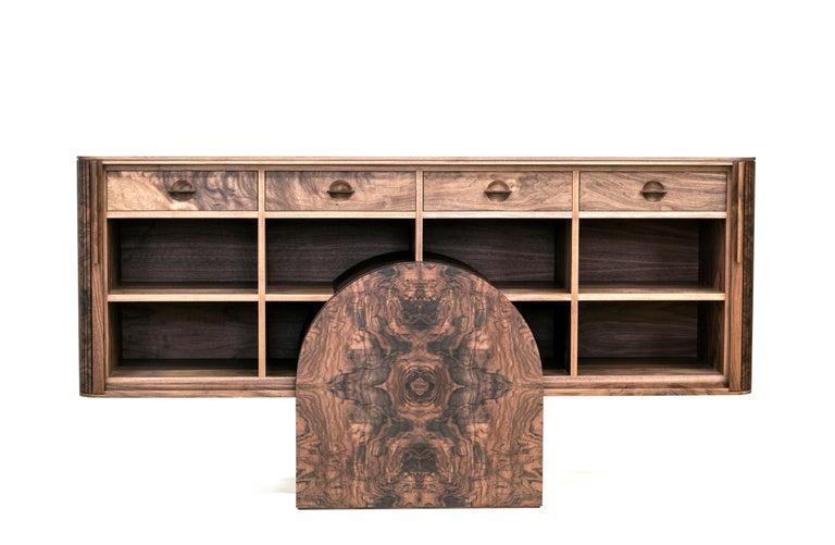 American Poritz Studio Trophy Cabinet - Walnut For Sale