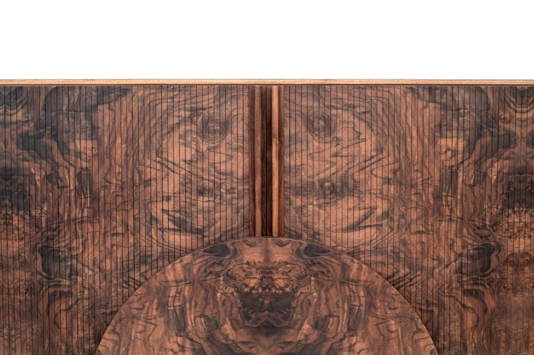Poritz Studio Trophy Cabinet - Walnut In New Condition For Sale In New York, NY