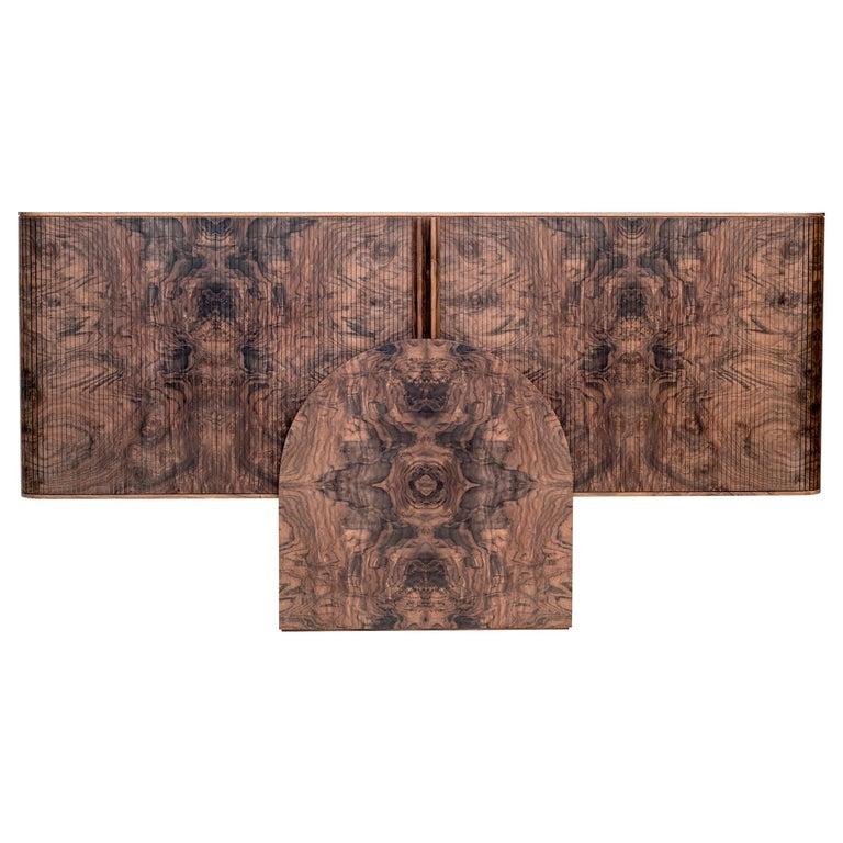 Poritz Studio Trophy Cabinet - Walnut For Sale