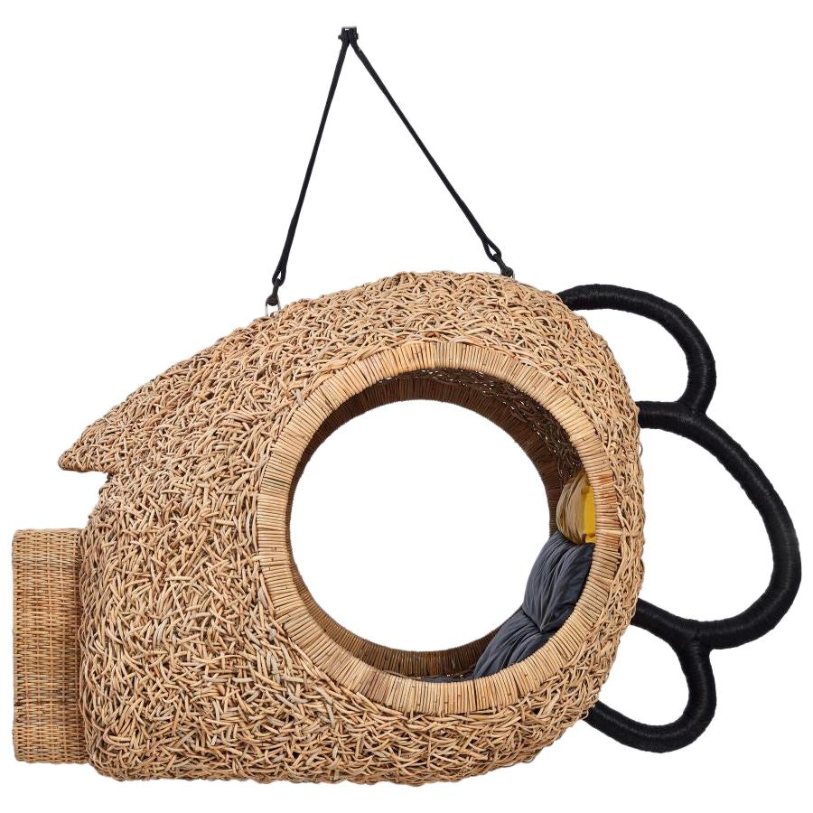 "Porky Hefer, ""Boom For Real. A Mask."", Hanging Kooboo Cane Seating Pod"