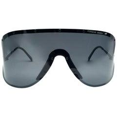 Porsche Design 5620 90 Vintage Shield Yoko Ono Sunglasses, 1980s