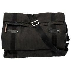 Porsche Design Black/Grey Nylon P2000 Flap Messenger Bag