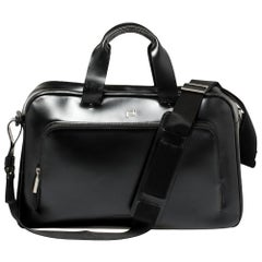 Porsche Design Black Leather Business Briefcase Bag