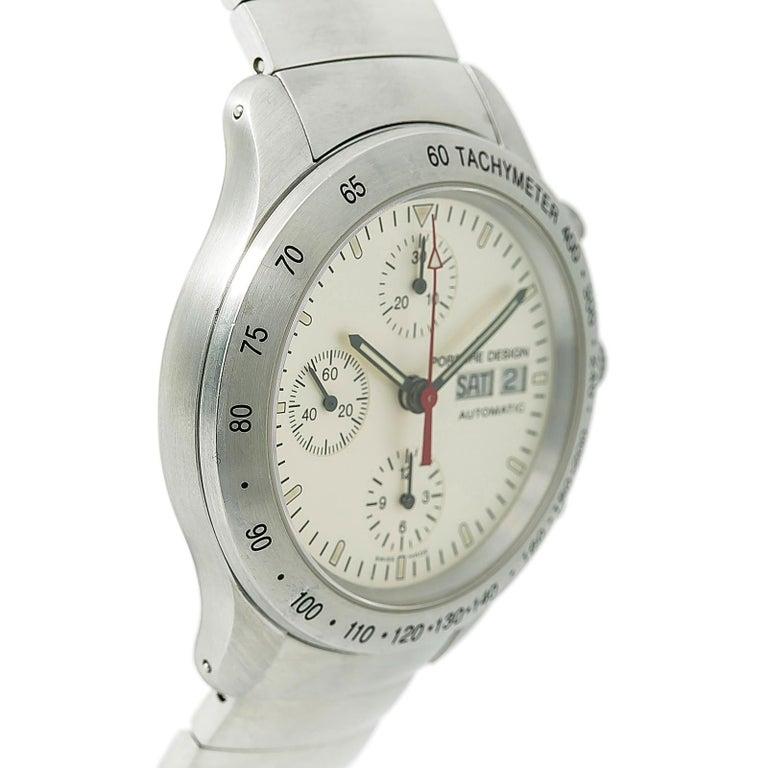 Porsche Design Eterna 660541 Mens Automatic Watch Chronograph Ss