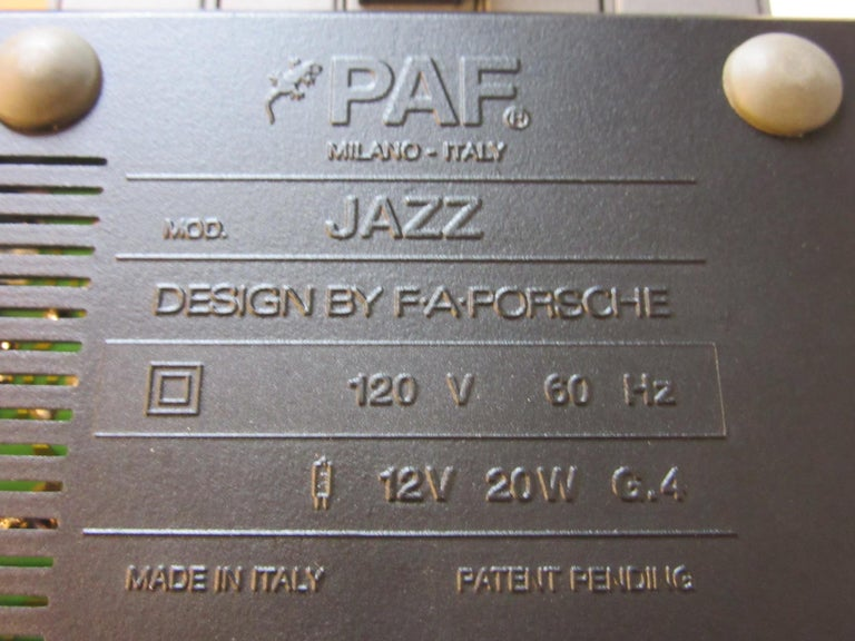 Porsche Design Jazz Lamp by PAF Studio For Sale 1