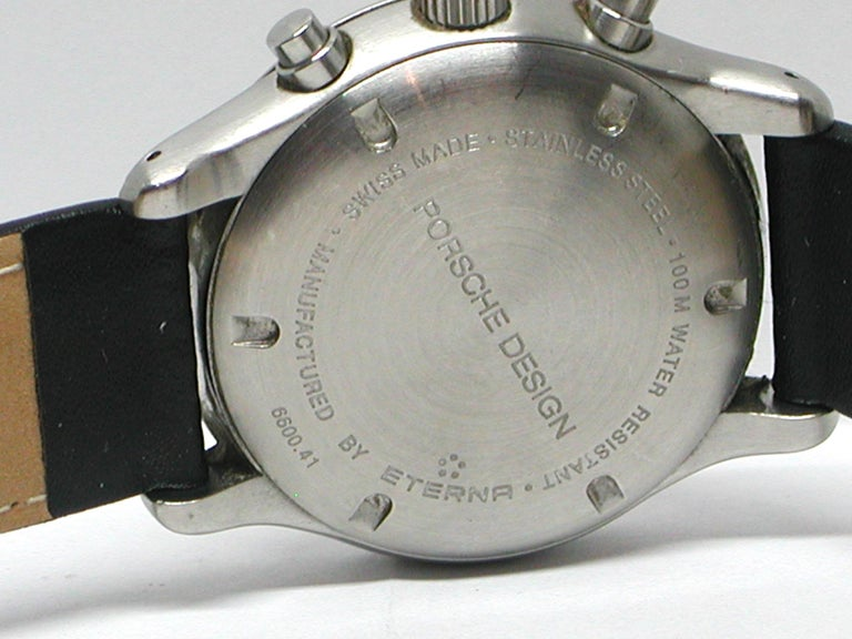 Round Cut Porsche Design Steel Men's Watch For Sale