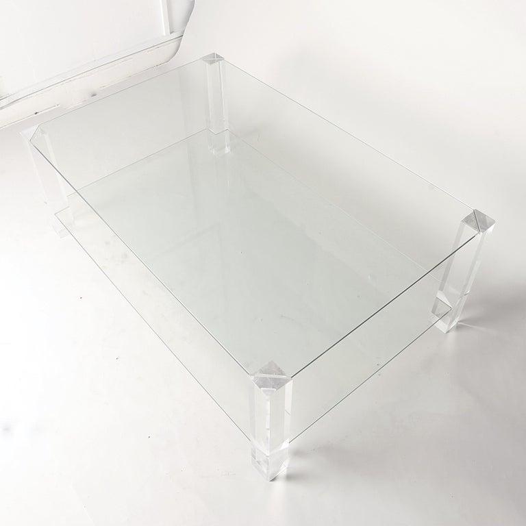 Porta Romana Glas Und Lucite Couchtisch Im Angebot Bei 1stdibs