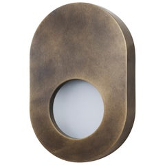 Portal Sconce Oval in Antique Brass