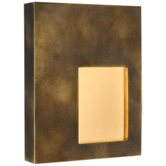 Portal Sconce Rectangle in Antique Brass