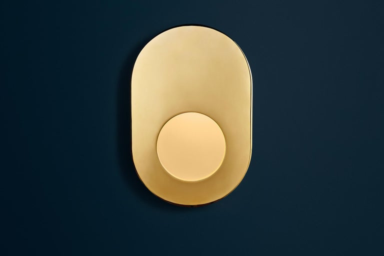 Portal Sconce Rectangle in Antique or Polished Brass For Sale 6