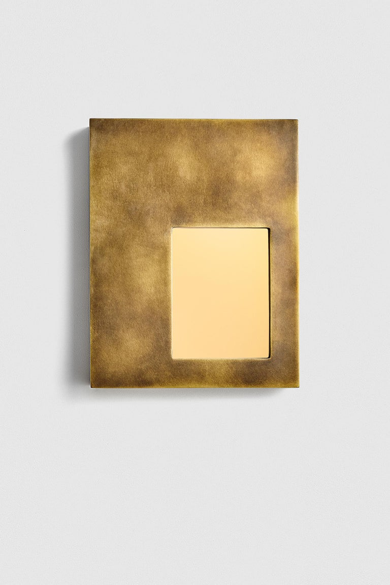 Portal Sconce Rectangle in Antique or Polished Brass In New Condition For Sale In New York, NY