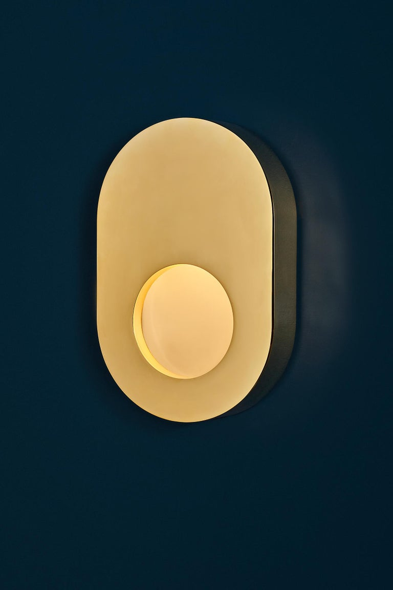 Portal Sconce Rectangle in Antique or Polished Brass For Sale 5