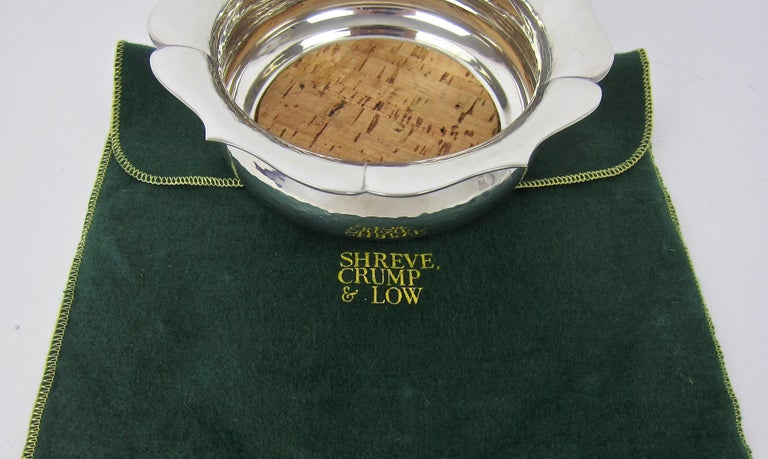 Arts and Crafts Porter Blanchard Large Handmade Floriform Bottle Coaster for Shreve Crump & Low For Sale
