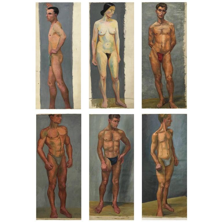 Portfolio Life-Size Paintings, Vienna, 1933 For Sale