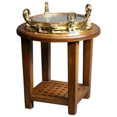 Brass Ships Porthole Table