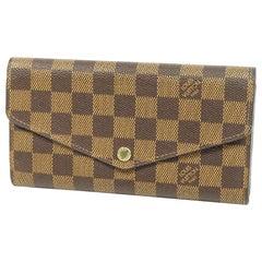 portofeuilles  Sarah  Womens  long wallet N63209  Damier ebene Leather