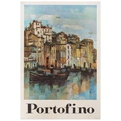 """Portofino"" 1960s Italian Poster"