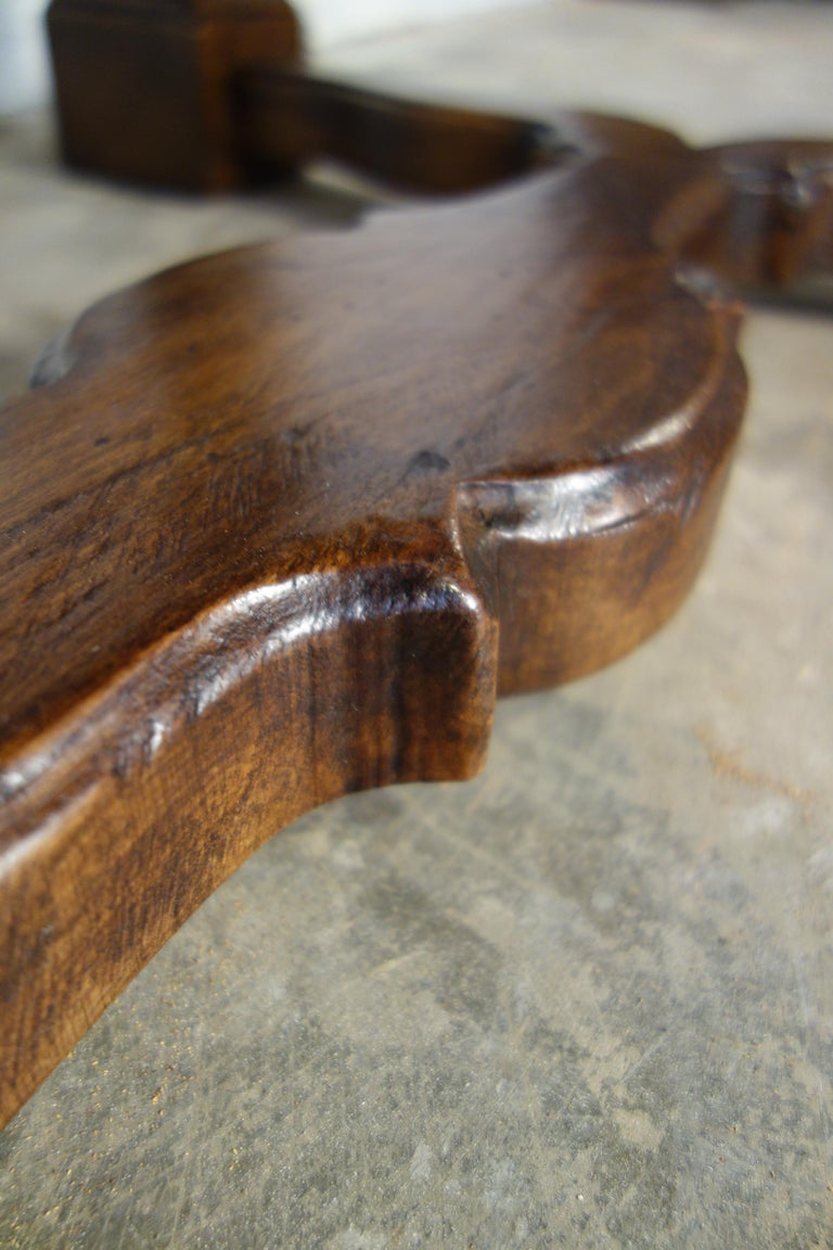 Antique Italian Handcrafted Reproduction Walnut Portofino End Table Line  For Sale 6