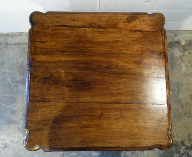 Antique Italian Handcrafted Reproduction Walnut Portofino End Table Line  For Sale 7