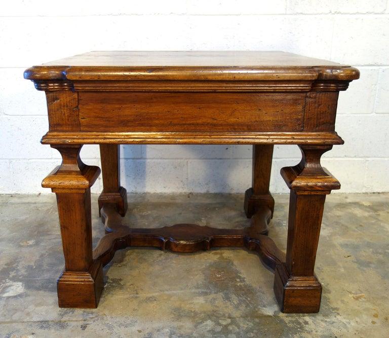 Renaissance Revival Antique Italian Handcrafted Reproduction Walnut Portofino End Table Line  For Sale