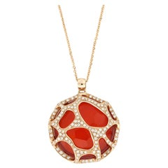 18 Kt Rose Gold Portofino Big Necklace With Diamonds