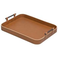 Portofino Large Rectangular Tray in Cognac Leather
