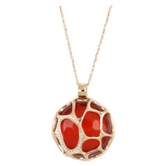 18kt Rose Gold Portofino Necklace With Diamonds