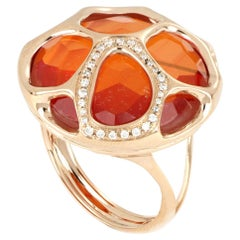 18 Kt Rose Gold Portofino Ring with Diamonds