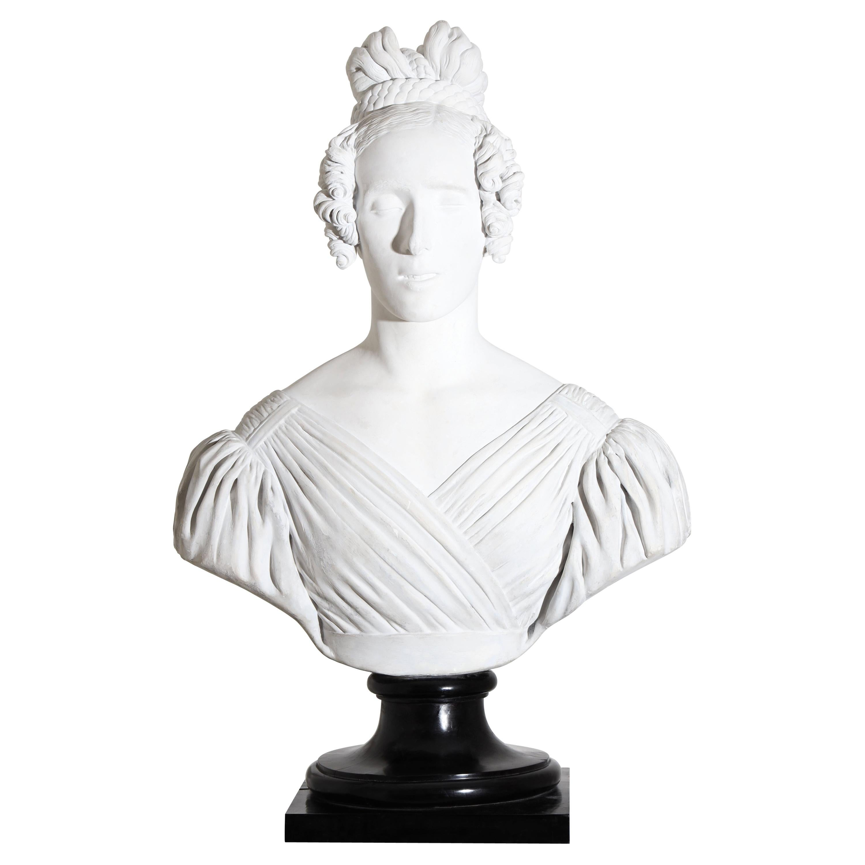 Portrait Bust of a Lady, Dated 1837