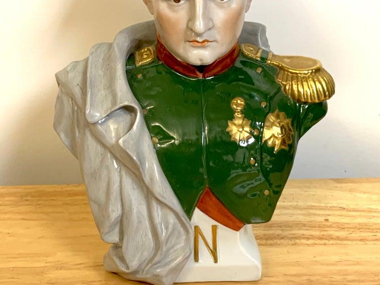 Empire Portrait Bust of Napoleon Bonaparte, by Sitzendorf For Sale