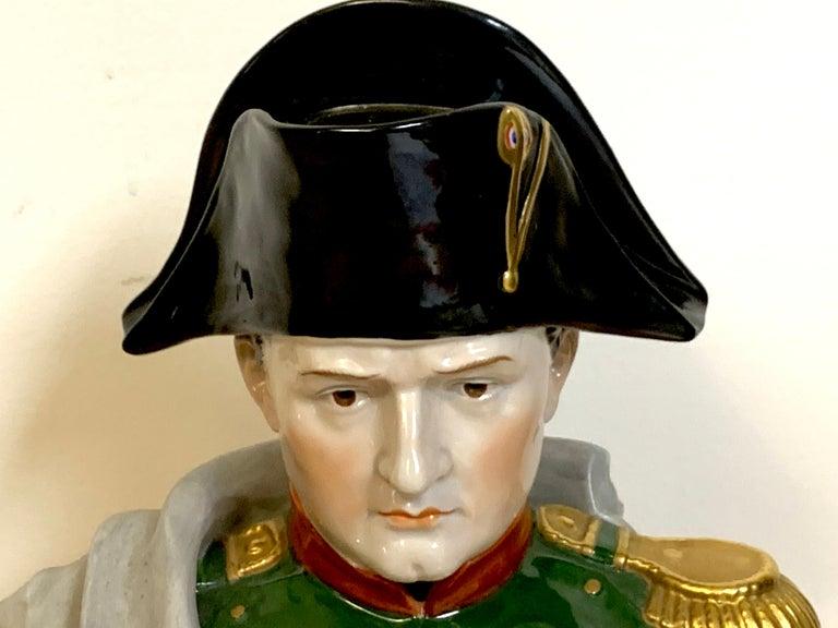 German Portrait Bust of Napoleon Bonaparte, by Sitzendorf For Sale