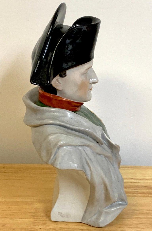 Portrait Bust of Napoleon Bonaparte, by Sitzendorf In Good Condition For Sale In West Palm Beach, FL
