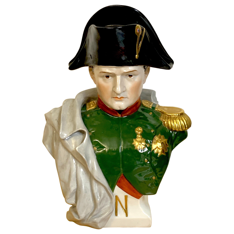 Portrait Bust of Napoleon Bonaparte, by Sitzendorf