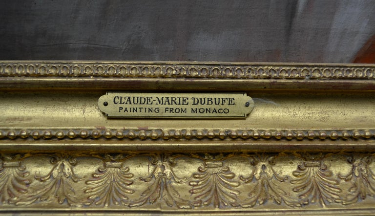 Painted Oil Painting entitled 'Le Reveil' by Claude-Marie Dubufe For Sale